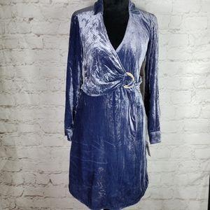 Anthropologie Maeve blye velvet shirt dress NWT 0